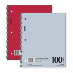 MeadWestvaco Mid Tier Notebook - 1 Each - 100 Sheets