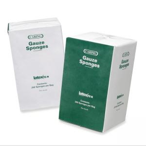 "Medline CARING Woven Gauze Sponge - 3"" x 3"" - 200 / Box - White"