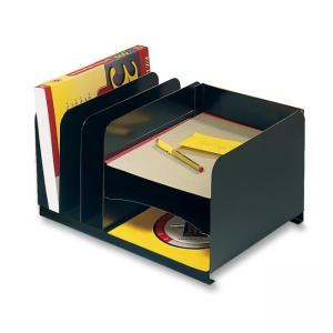 MMF Horizontal/Vertical Desktop Organizer - Black - 1 Each