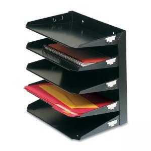 MMF Horizontal File Tray - 1 Each - Black
