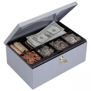 MMF Cash Box with Security Lock - Gray