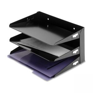 MMF Steelmaster Horizontal Desk File Tray -  Black - 1 Each