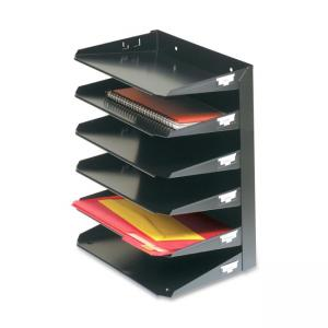 MMF Steelmaster Horizontal Organizer - 1 Each - Black