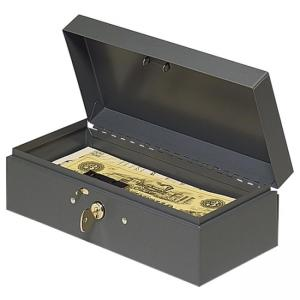 MMF Steelmaster Cash Box with Lock - Gray