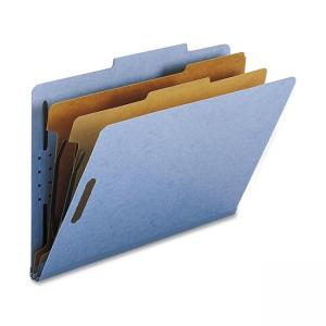Smead Straight-Line Colored Classification Folder - 10 / Box - Blue