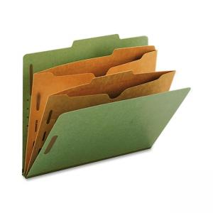 Smead Straight-Line Classification Folder with Pocket Divider - 10 / Box - Green
