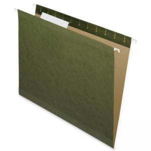 Nature Saver Hanging File Folder - 25 / Box - Green