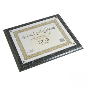 Nu-Dell Award-A-Plaque -  Black Marble - 1 Each