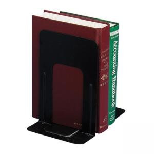 OIC Nonskid Steel Bookend - Black - 1 Pair