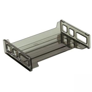 OIC Side Loading Stackable Desk Tray - 1 Each - Smoke