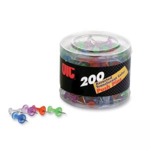 OIC Translucent Push Pins