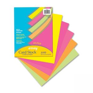 Pacon Array Brights Card Stock Paper - Assorted Colors - 100 / Pack