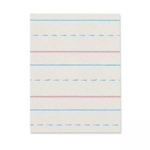 Pacon DNealian Practice Skip Ruled Newsprint - 500 / Pack - White