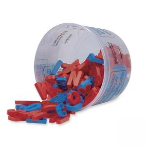 Pacon Magnetic Upper Case Alphabet Letters - 108 / Set - Blue - Red
