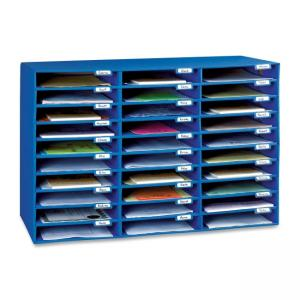"Pacon 001318 Mailroom Sorter - 1.75"" Height x 12.50"" Width x 10"" Depth - Blue"