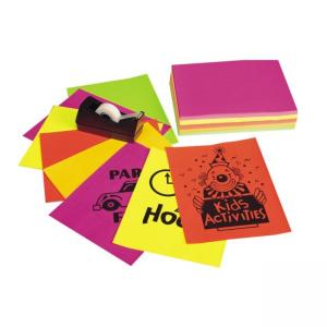 "Pacon Neon Bond Paper 1 Pack - Assorted Colors - Letter 8.50"" x 11"""