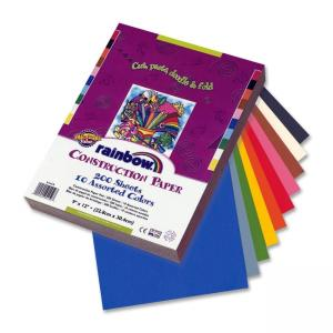 Pacon Rainbow Super Value Construction Paper - 200 / Pack - Assorted Colors