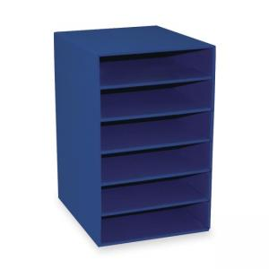 Pacon Six Shelf Organizer - 1 Each - Blue