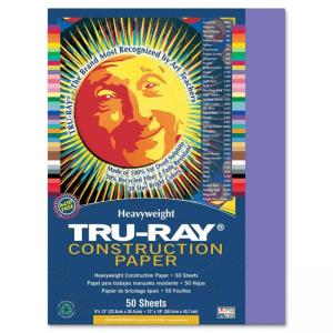 Pacon Tru-Ray Construction Paper - 50 / Pack - Violet