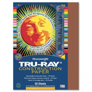Pacon Tru-Ray Construction Paper - 50 / Pack - Warm Brown