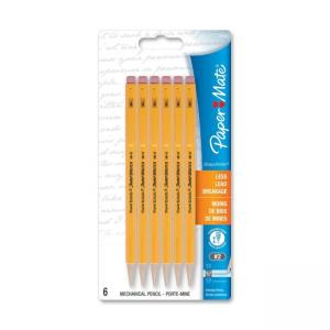 Paper Mate Sharpwriter Mechanical Pencils - 5 / Pack - Yellow