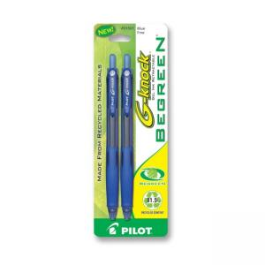 Pilot BeGreen G-Knock Gel Ink Pen - Blue - 2 / Pack