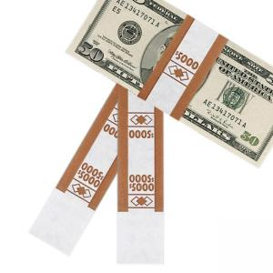 PM $5000 Currency Strap White 1000 / Pack