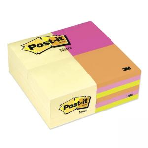 Post-it Plain Mixed Pack Note - 90 Notes - Assorted Colors