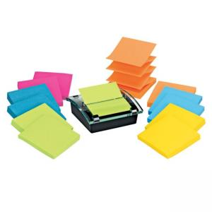 "Post-it Pop-up Super Sticky Notes Assorted 1 Pack  3"" Width x 3"" Length"
