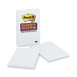 "Post-it Super Sticky Adhesive Notes White 3 / Pack 4"" Width x 6"" Length"