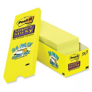 "Post-it Super Sticky Notes Office Pack Yellow 24 / Pack 3"" Width x 3"" Length"