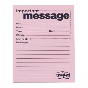 Post-it Telephone Message Pad - 50 Sheets - 12 / Pack