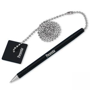 "Preventa Counter Pen With 24"" Ball Chain"