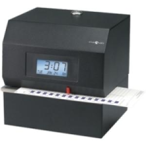 Pyramid 3700 Heavy-Duty Time Clock & Document Stamp - Card Punch/StampUnlimited Employees