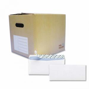 Quality Park Redi-Strip Business Envelope - White- Blue 1000 / Carton