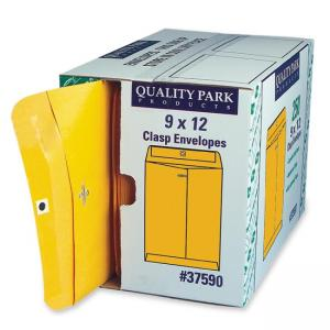 Quality Park Clasp Envelopes With Dispenser - 250 / Carton - Kraft