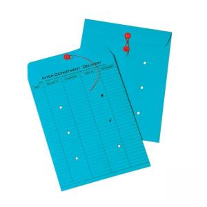 Quality Park Standard Style Inter-Department Envelopes - 100 / Box - Blue