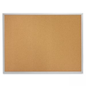 "Quartet Aluminium Frame Bulletin Board with Bracket -24"" x 36"" - Brown Cork"