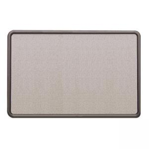 "Quartet Contour Gray Fabric Board - 36"" x 48"" -  Gray Fabric Surface"