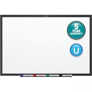 "Acco Quartet Magnetic Dry-Erase Board - 36"" Width x 24\"" Height - White - Black Aluminum Frame - Film - Wall Mount - 1 Each"