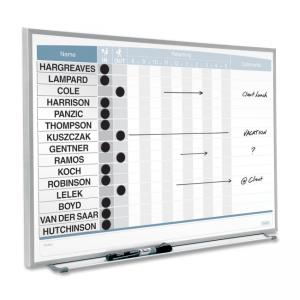 Quartet 33704 Magnetic Board - White Steel
