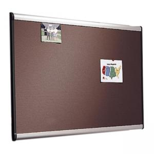 "Quartet Prestige Plus Gray Diamond Mesh Bulletin Board - 36"" x 48"" - Aluminum Fabric"
