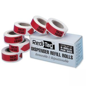Redi-Tag Sign Here Tag Refills - 120 / Box