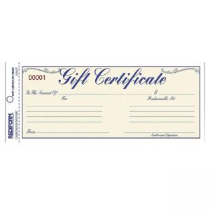 Rediform Gift Certificates With Envelopes - 1 Form Per Sheet