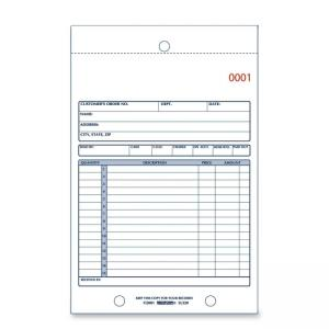 "Rediform Sales Book Form - 2 Part - 7.87"" x 5.5"""