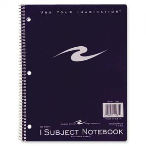 "Roaring Spring 1-Subject Notebook - 8.50"" x 11"""