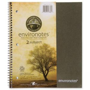 Roaring Spring 2-Subject Wirebound Notebook - 100 Sheet