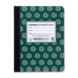 "Roaring Spring Environotes Recycled Composition Book - 80 Sheet - 9.75"" x 7.5"" - 1 Each"