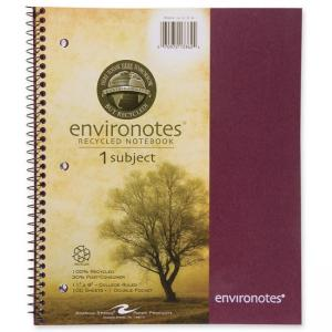 "Roaring Spring 1-Subject Wirebound Notebook - 9"" x 11"" - 100 Sheets"