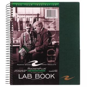Roaring Spring Pockets Plus Wirebound Lab Book - 100 Sheets